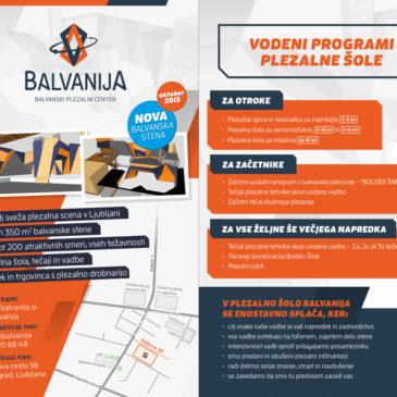 Vodeni programi plezalne šole Balvanija
