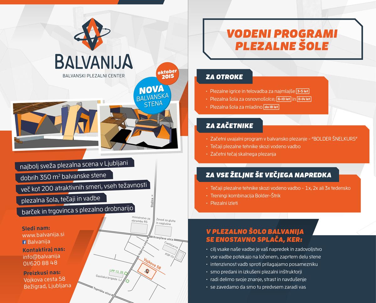 Balvanija, vodeni programi plezalne šole
