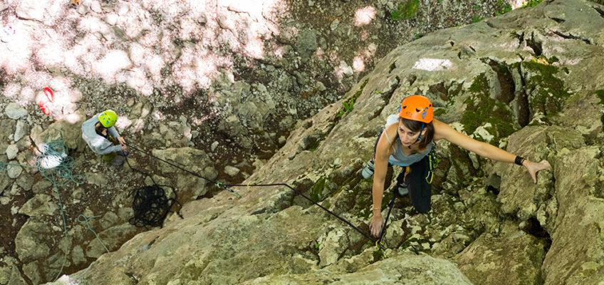 Zacetni tecaj skalnega plezanja (foto)