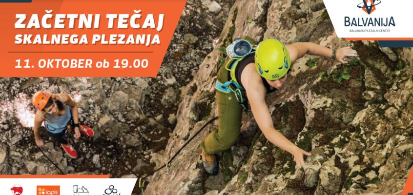 Začetni tečaj skalnega plezanja – 11. okt