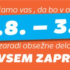 BALVANIJA ZAPRTA! 27.8. – 3.9.