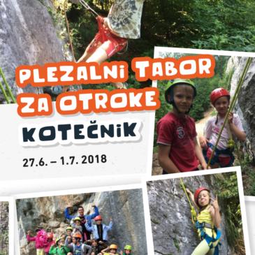 Plezalni tabor za otroke – Kotečnik