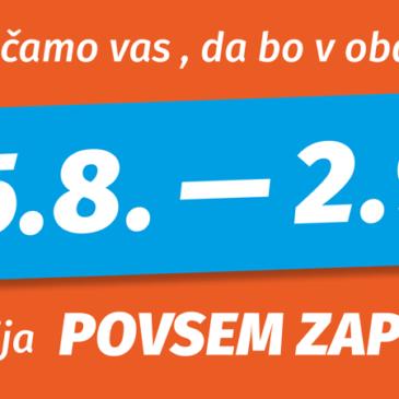 25.8.- 2.9. ZAPRTO
