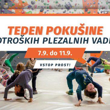 TEDEN POKUŠINE PLEZALNIH VADB! OD 7.9.-11.9.